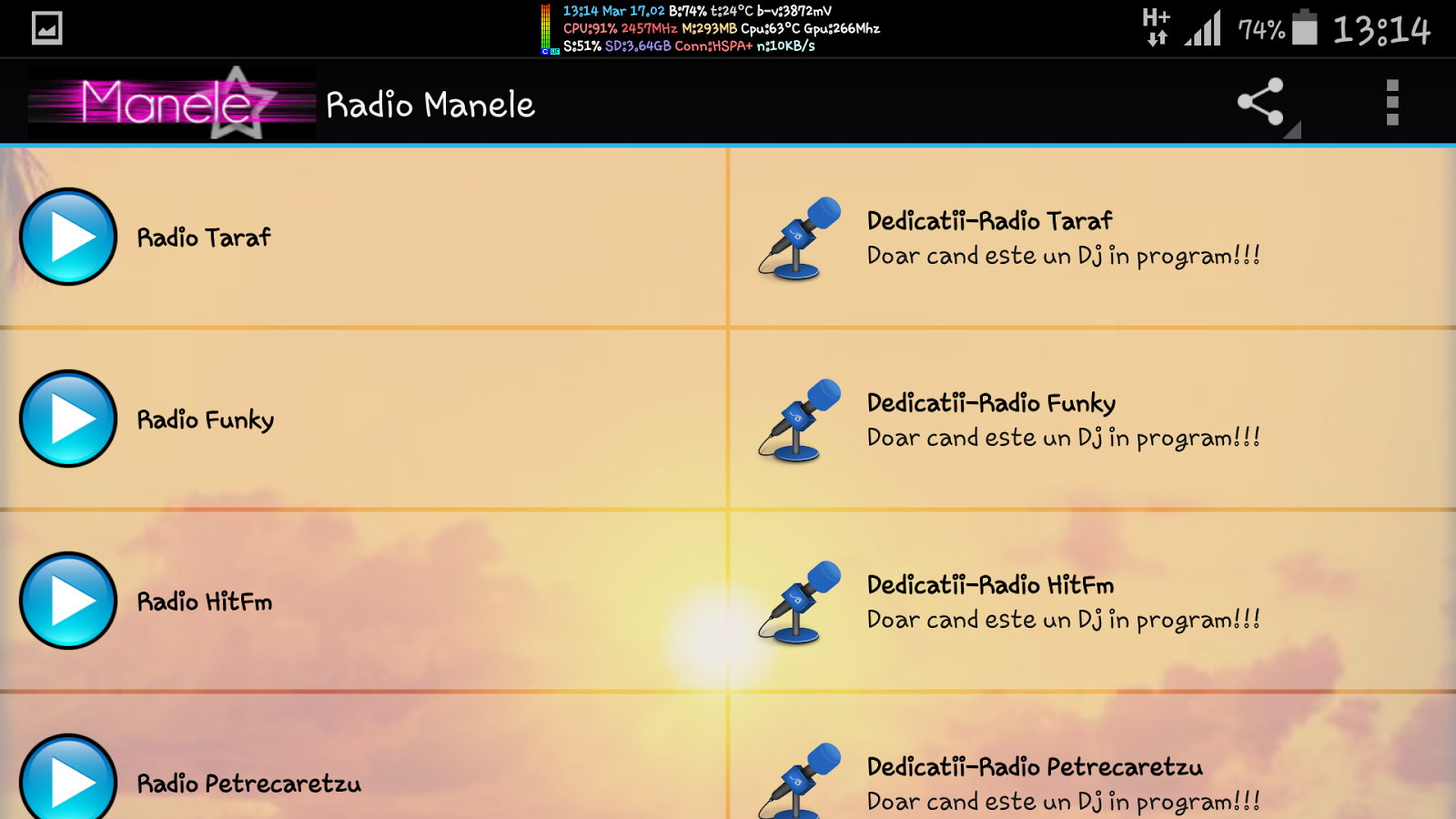 Manele Online 2015 - screenshot