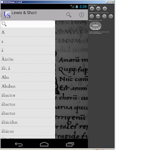 Lewis & Short Latin Dictionary- screenshot thumbnail