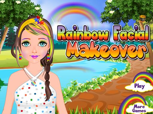彩虹面部化妝遊戲