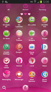 GO Launcher EX Hearts Theme - screenshot thumbnail