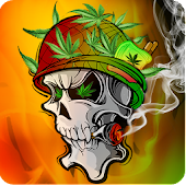 SkullFire Smoke Weed Animated
