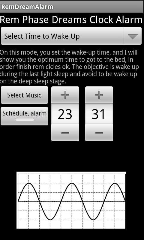 REMSleepAlarm - screenshot