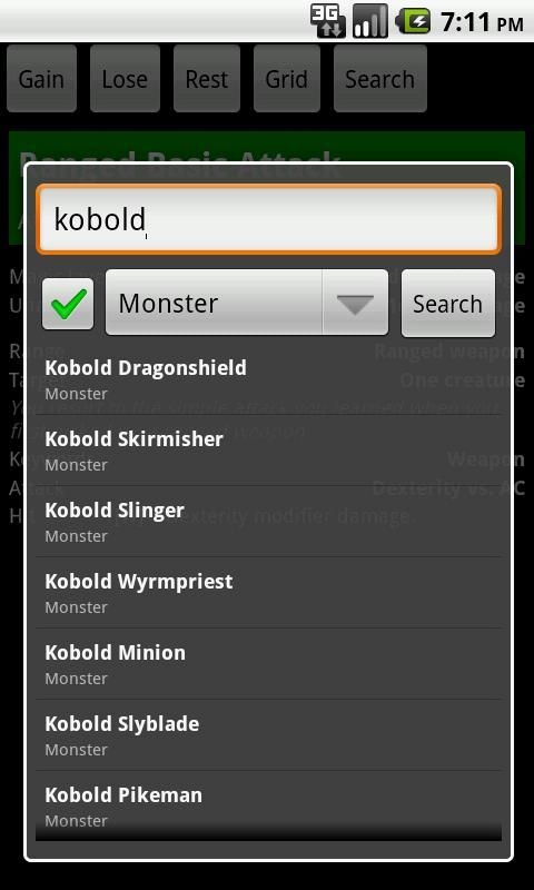 KSheet Pro - DnD 4e - screenshot