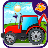 Farming Tractor - Kids 2D Game