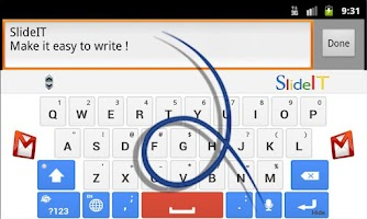 Screenshot of SlideIT Google Skin