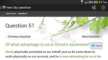 Screenshot of New City Catechism