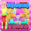 Newborn fashion baby games icon