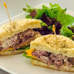Roast Beef and Cheddar on Focaccia Roll