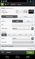 Screenshot of Questrade IQ Mobile