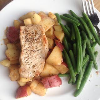 Pork Chops & Red Potatoes Skillet Dinner