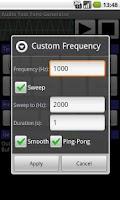 Screenshot of Audio Test Tone Generator