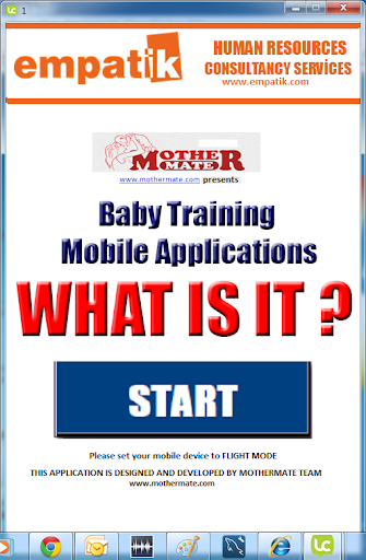WHAT IS IT Baby Training App1