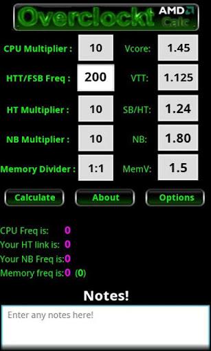 Free AMD CPU Calculator