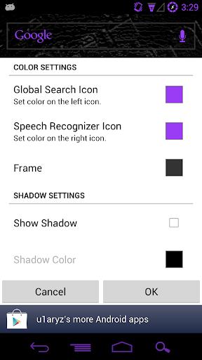 Custom ICS Search Widget for PC