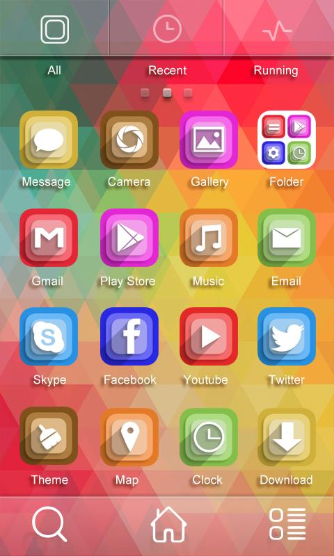 Brilliant Color GO Theme - screenshot