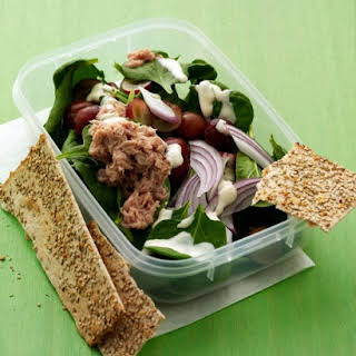 Baby Spinach Salad with Tuna.