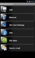 Screenshot of MP3 Notifications
