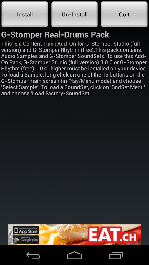 G-Stomper Real-Drums Pack - screenshot