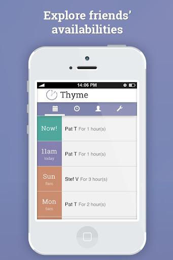 Thyme - Share availabilities