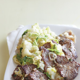 Beef Medallions with Spring Mashed Potatoes.