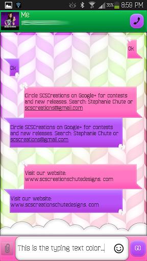 GO SMS - Bow Cutie 4