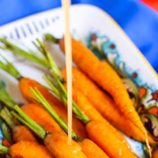 Roasted Carrots with Honey Ginger Glaze.