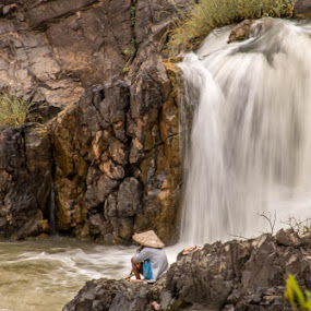Fisherman Falls by Jen Thiele - Novices Only Landscapes ( laos, waterfall )