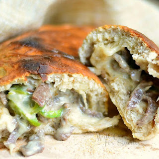 Easy Philly Cheese Steak Calzone.