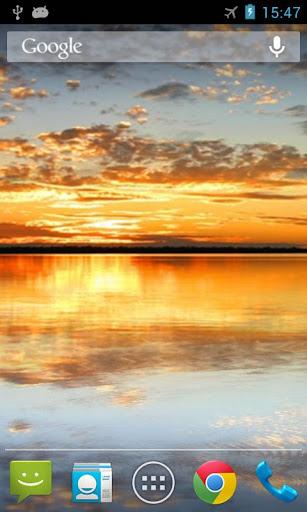 日落之湖動態桌布