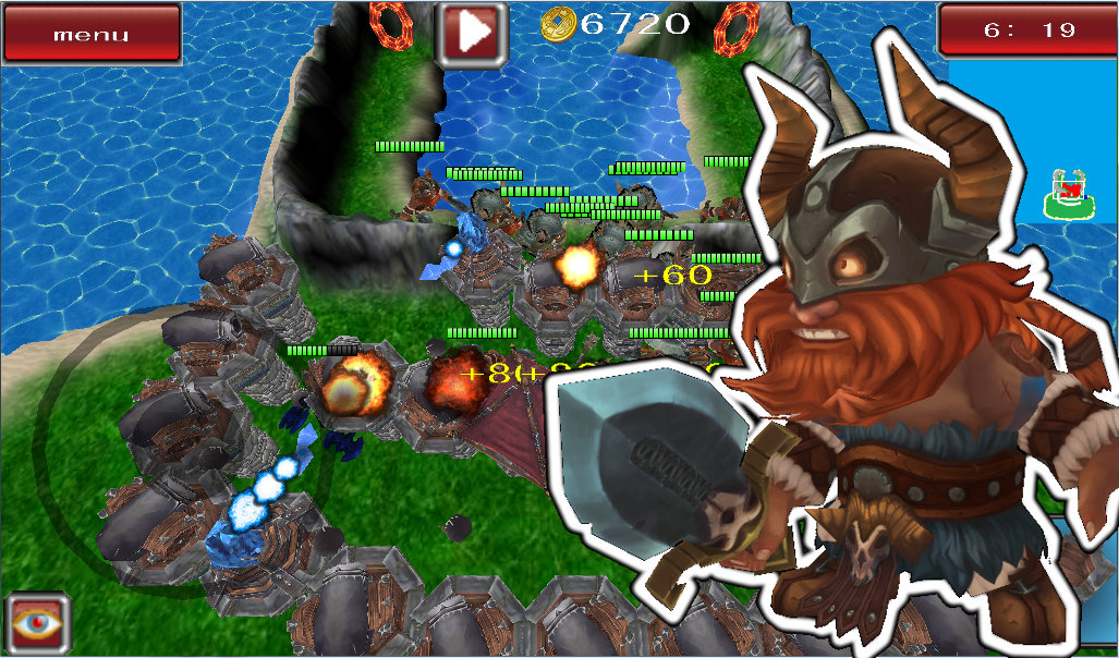Tower Defense Bruiser strategy - screenshot