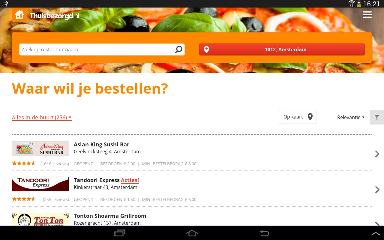 Thuisbezorgd.nl - screenshot