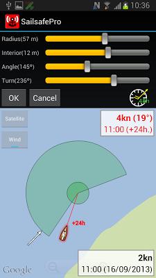 Sailsafe. Anchor alarm. - screenshot
