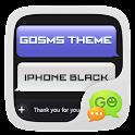 GO SMS Pro IPhoneBlack ThemeEX icon