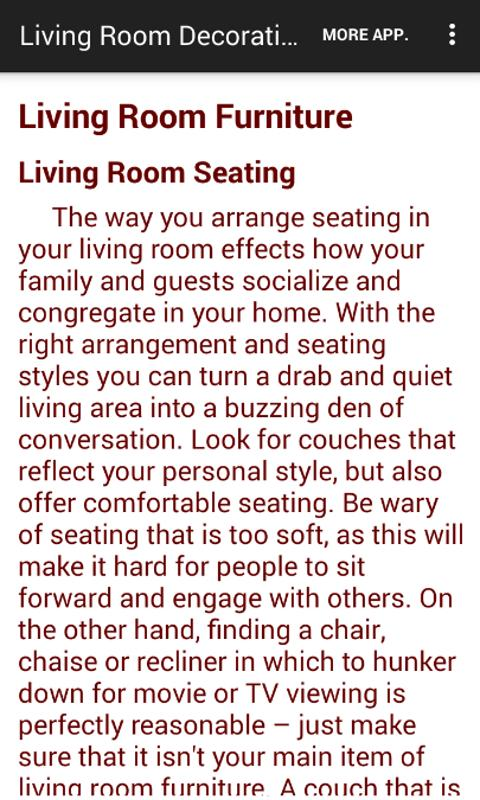 Living Room Decorating Ideas- screenshot