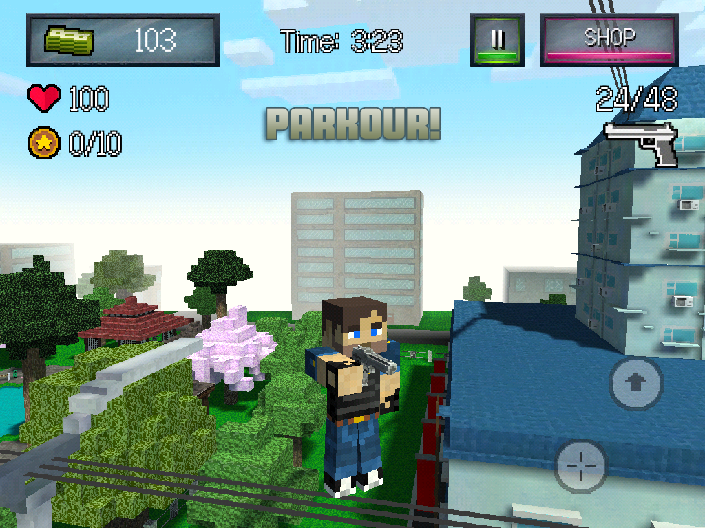 Wars Of Block City - Mine Game - screenshot