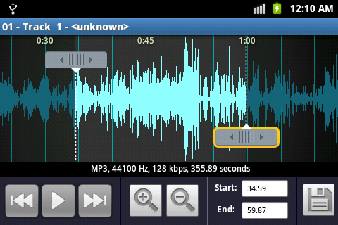 Ringtone Maker and MP3 cutter- screenshot