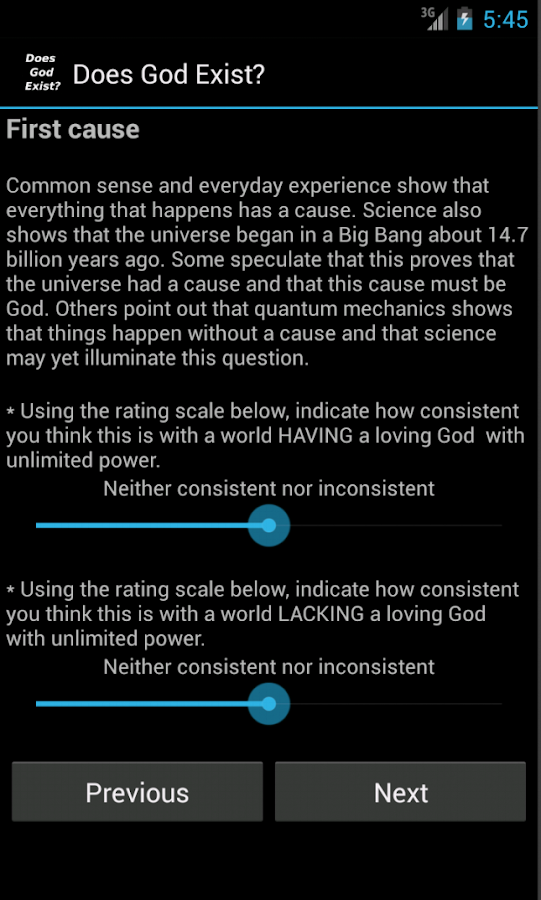 Does God Exist?- screenshot