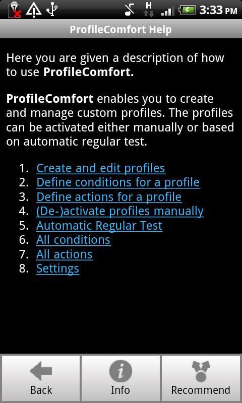 ProfileComfort - screenshot