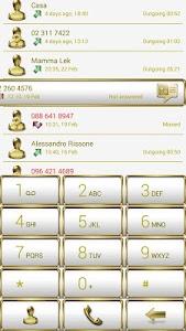 Dialer Frame Gold White Skin v1.0