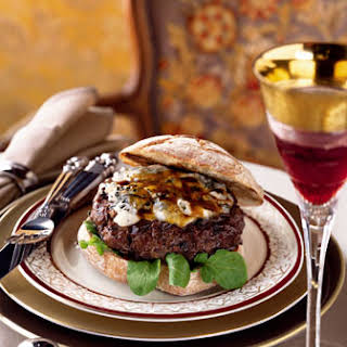 Porcini-Gorgonzola Burgers with Veal Demi-Glacé.