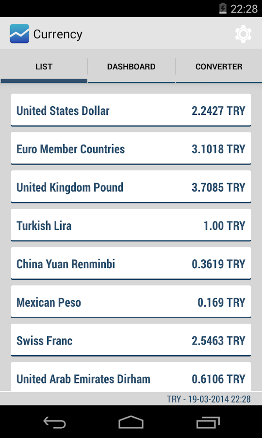 Currency - Simple Converter - Android Apps on Google Play: https://play.google.com/store/apps/details?id=com.kozaxinan.currency
