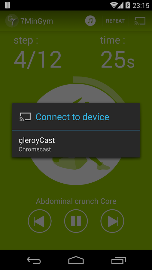 7MinGym Chromecast-AndroidTV- screenshot