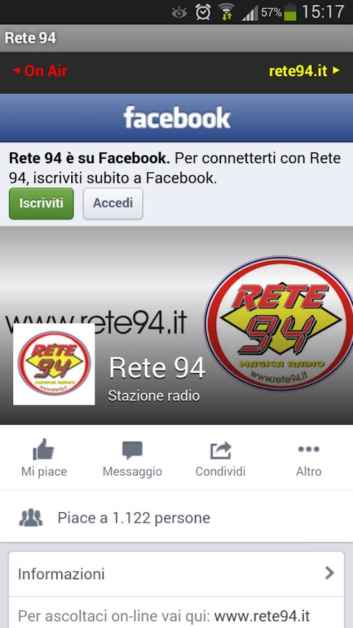Radio Rete 94- screenshot