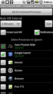 Auto Process Killer Free -1.5+ - screenshot thumbnail