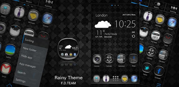Rainy GO Launcher EX Theme