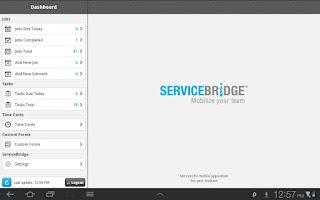 Screenshot of ServiceBridge