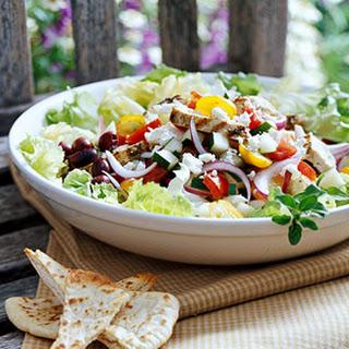 Grilled Greek Chicken Salad.