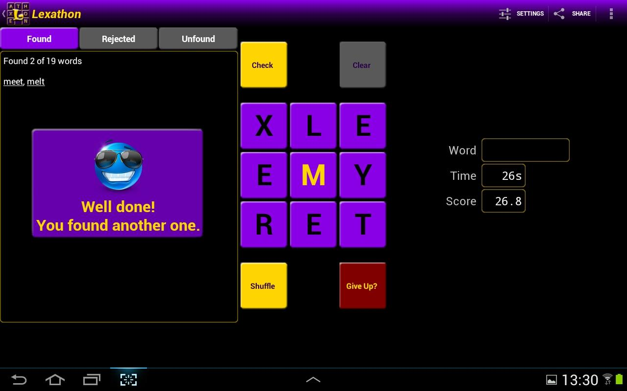 Lexathon® word jumble - screenshot