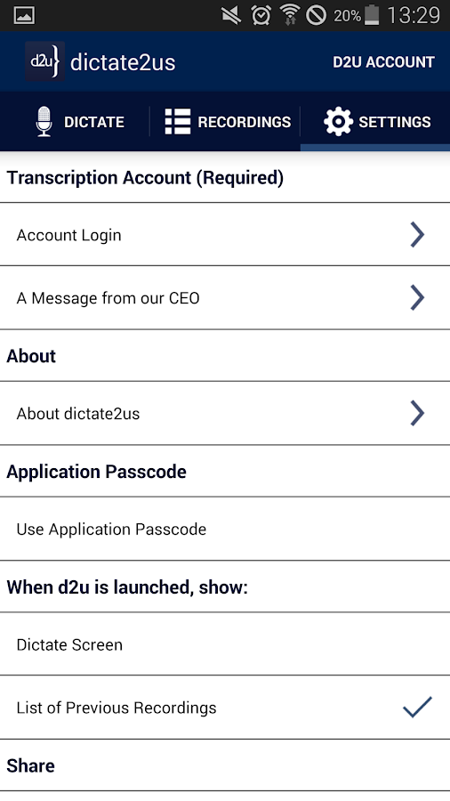 d2u: Recorder & Transcription- screenshot