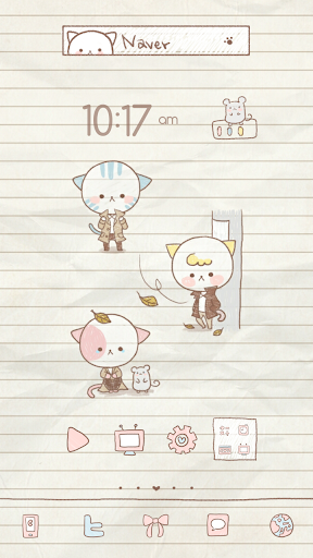 Cat Fall dodol launcher theme